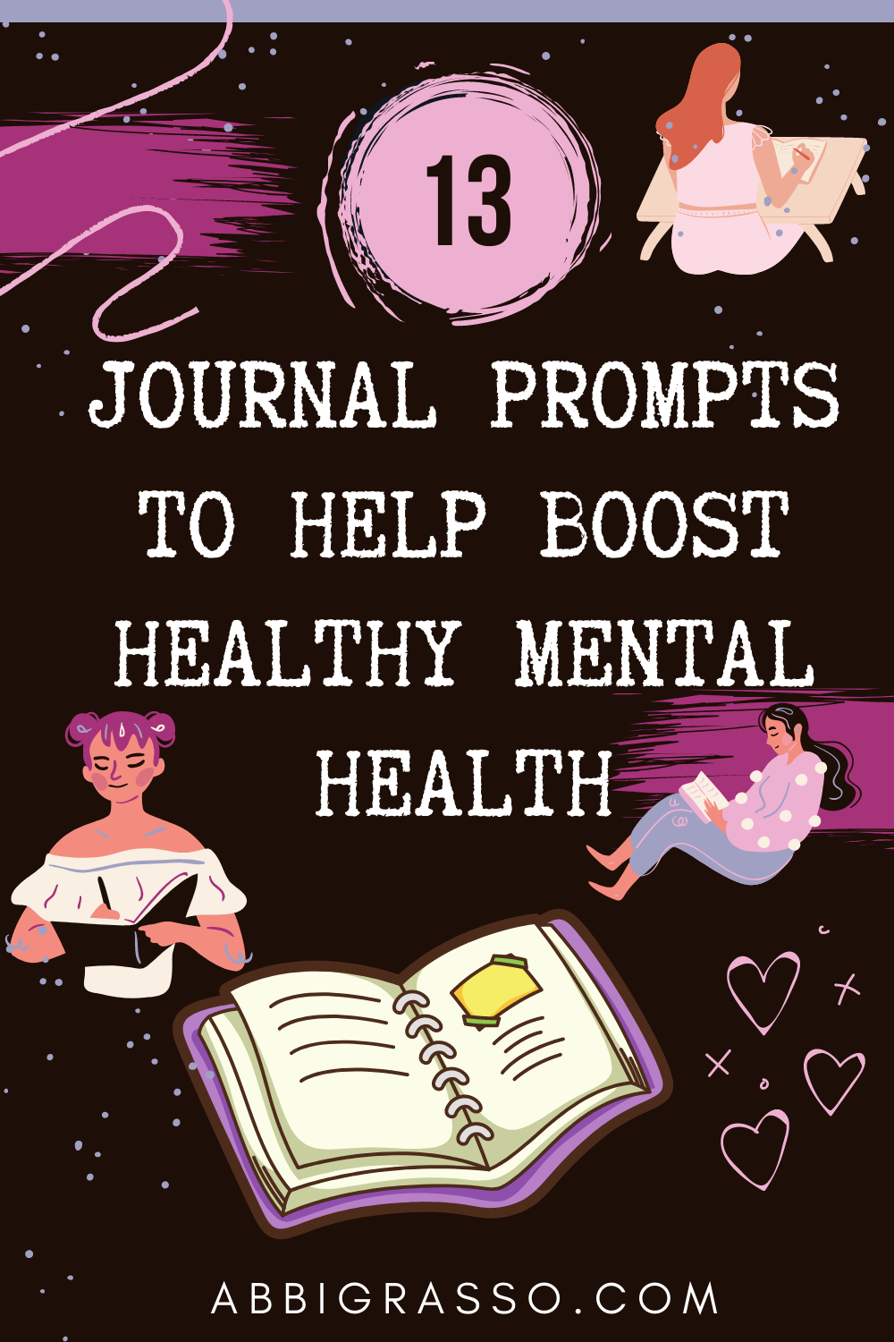 Daily Blog #281- 13 Journal prompts for better mental health