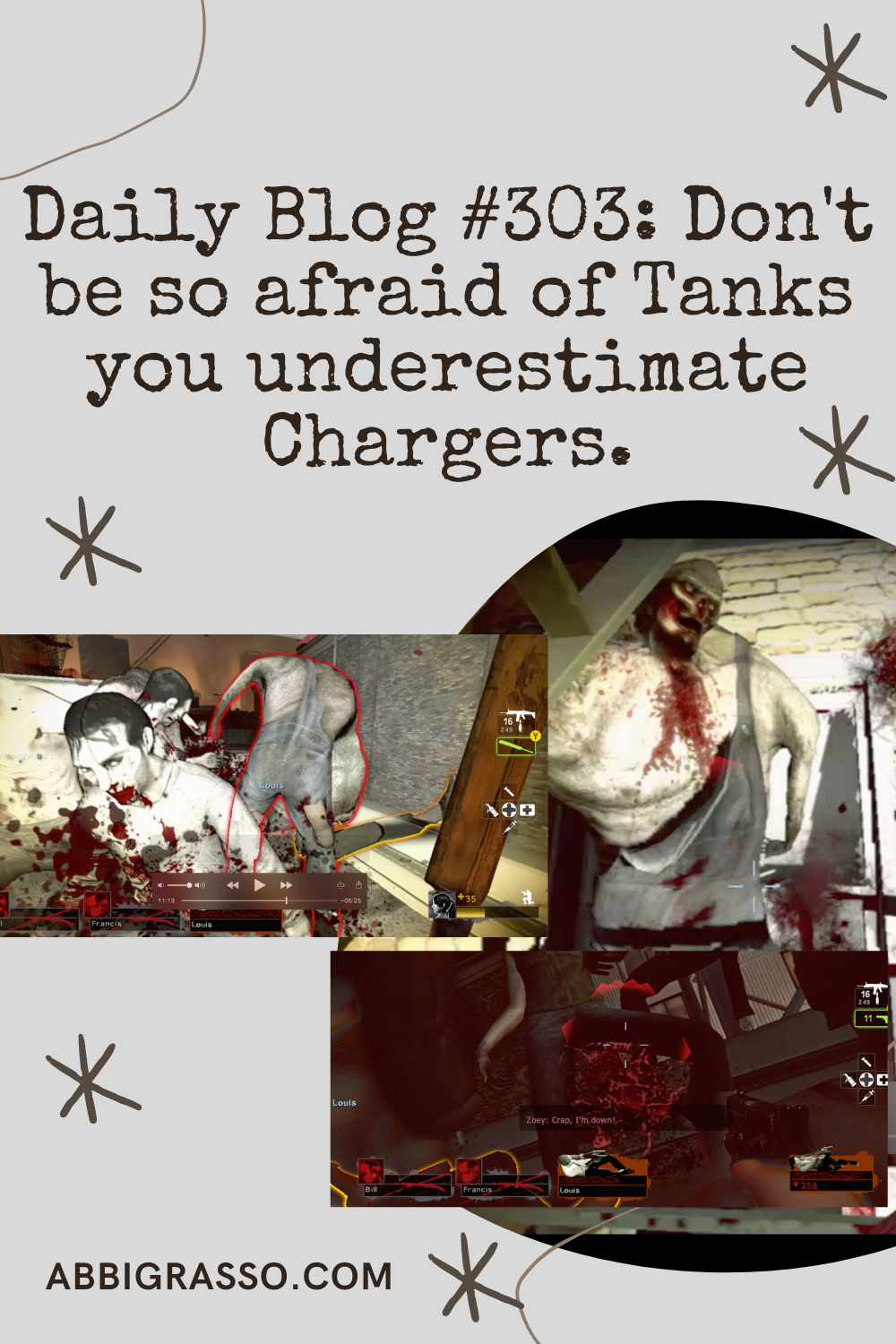 Daily Blog #303: Don't be so scared of the Tanks you underestimate the Chargers